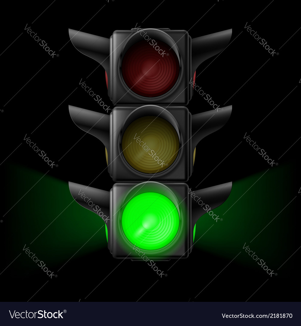 Traffic light with green on vector | Price: 1 Credit (USD $1)