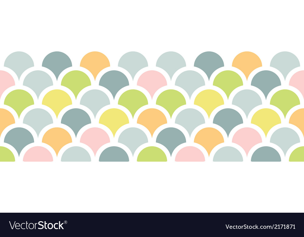Abstract colorful fishscale horizontal seamless vector | Price: 1 Credit (USD $1)