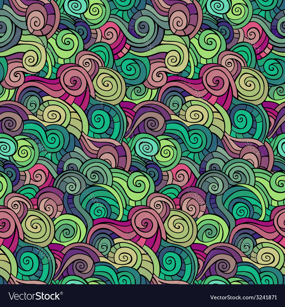 Abstract pattern waves and curls vector | Price: 1 Credit (USD $1)