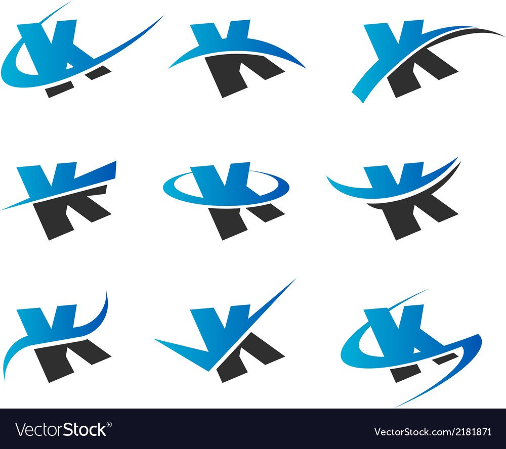 Alphabet k icons vector | Price: 1 Credit (USD $1)