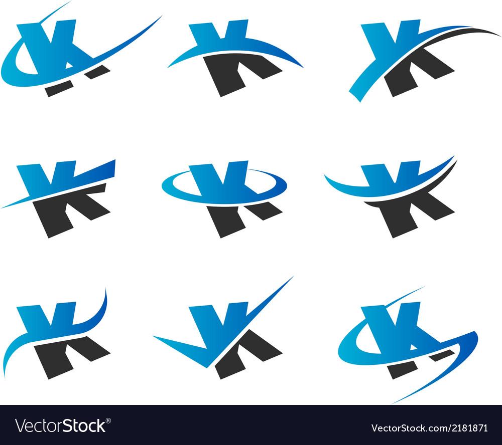 Alphabet k logo icons vector | Price: 1 Credit (USD $1)