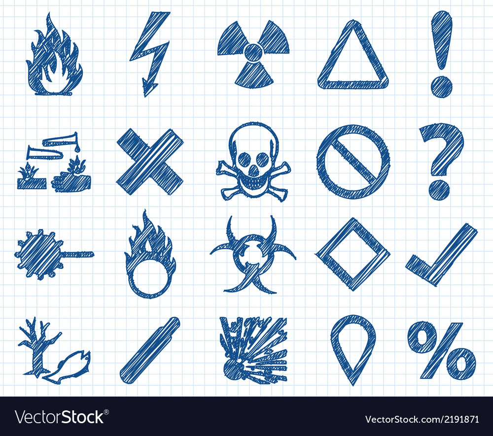 Danger pen style vector | Price: 1 Credit (USD $1)