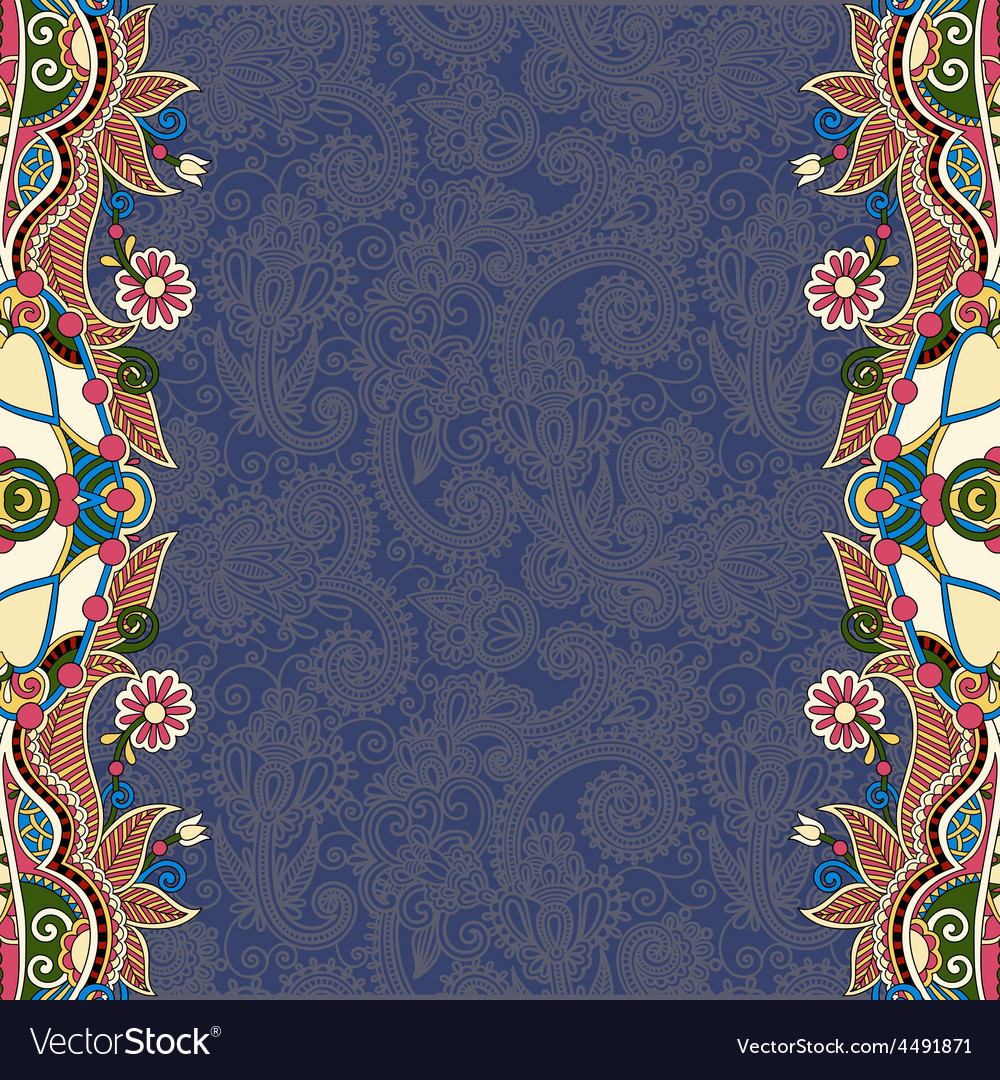 Dirty dark blue ornamental template with place for vector | Price: 1 Credit (USD $1)