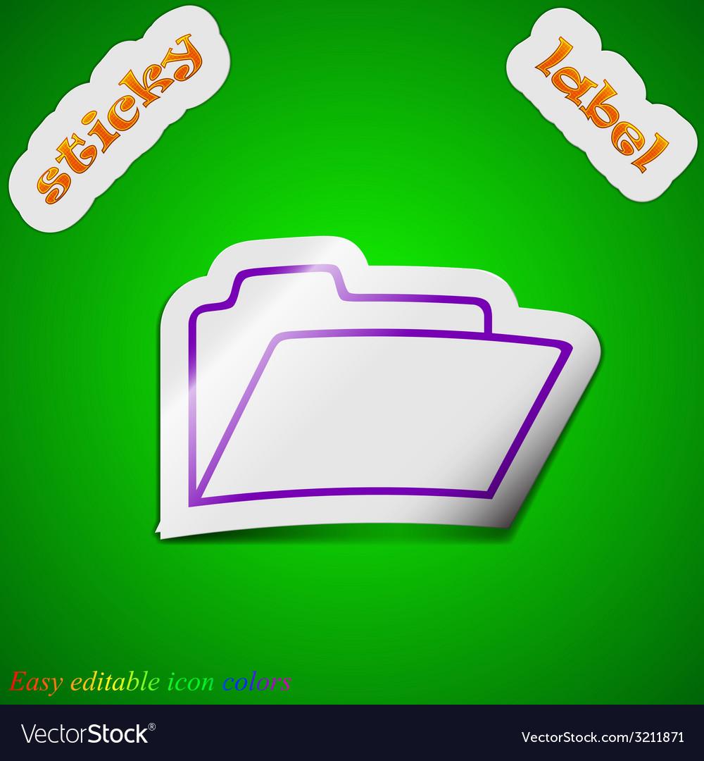 Document folder icon sign symbol chic colored vector   Price: 1 Credit (USD $1)