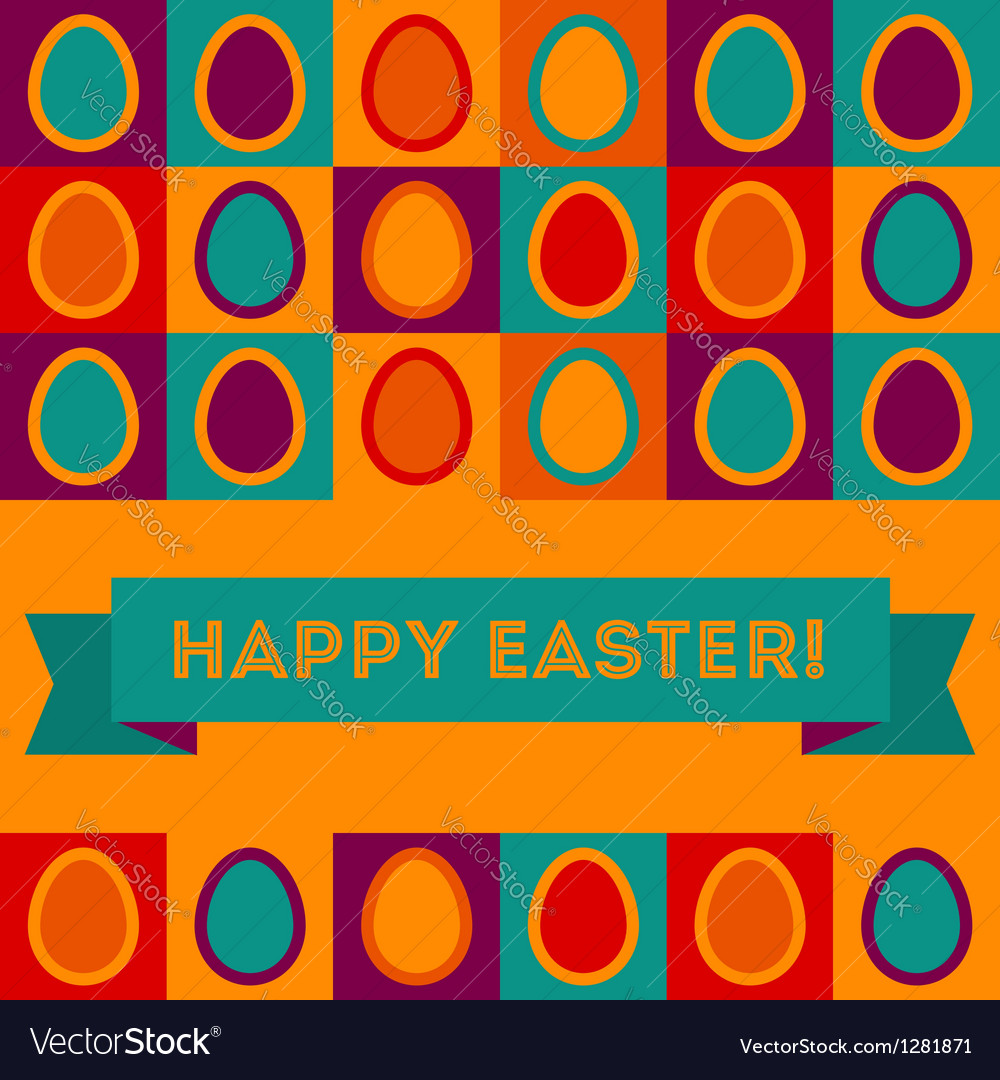 Easter card with egg pattern vector | Price: 1 Credit (USD $1)