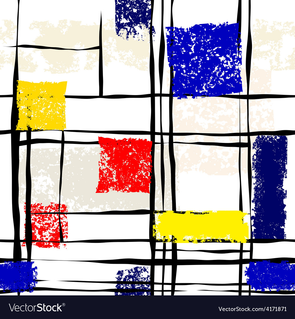Grunge imitation of mondrian painting vector | Price: 1 Credit (USD $1)
