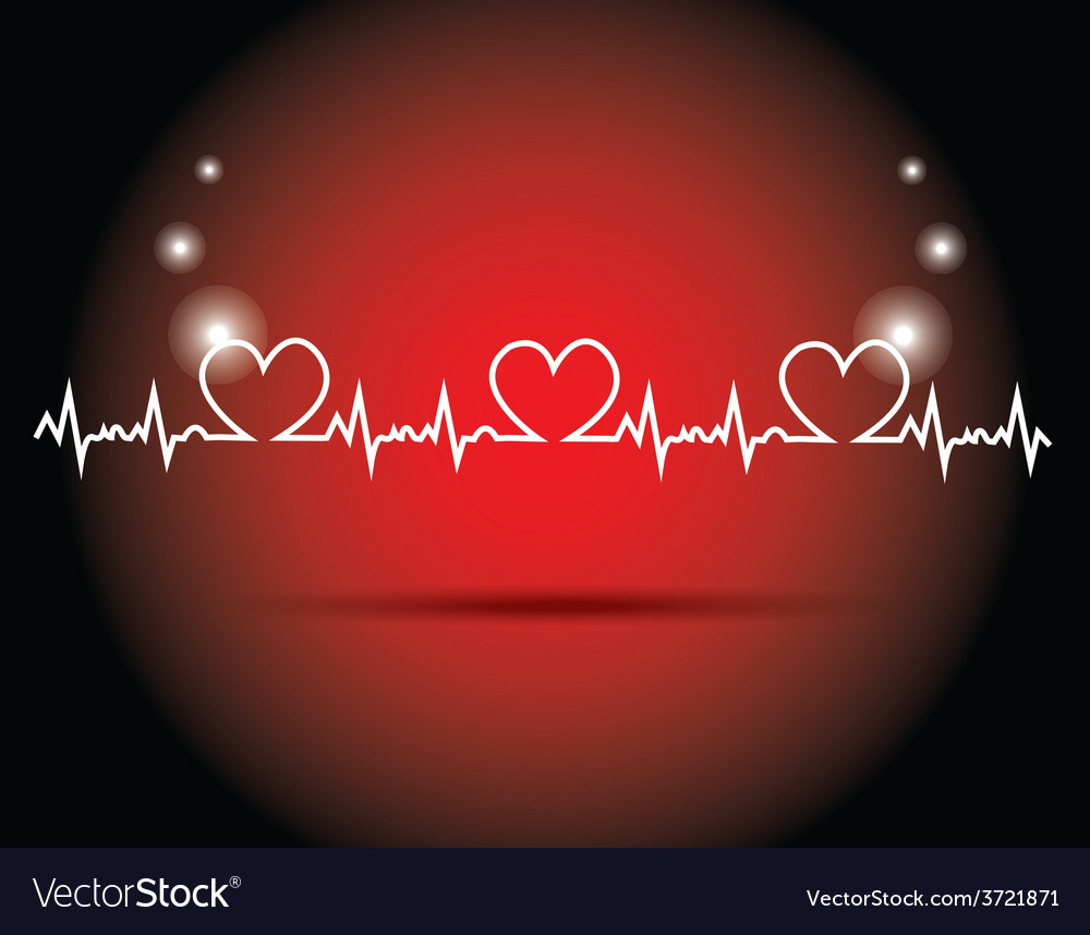 Heart beats vector | Price: 1 Credit (USD $1)