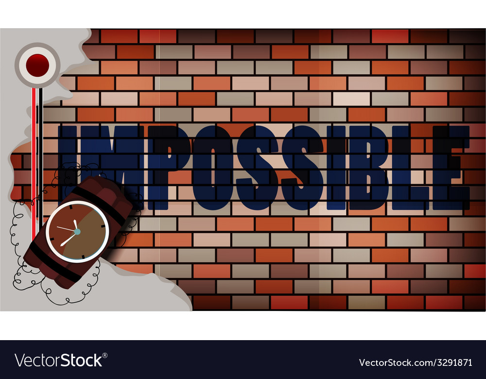 Impossible concept vector | Price: 1 Credit (USD $1)