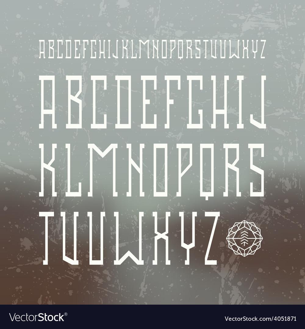 Medium serif font in retro style vector | Price: 1 Credit (USD $1)