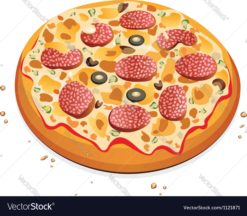 Pizza vector | Price: 1 Credit (USD $1)