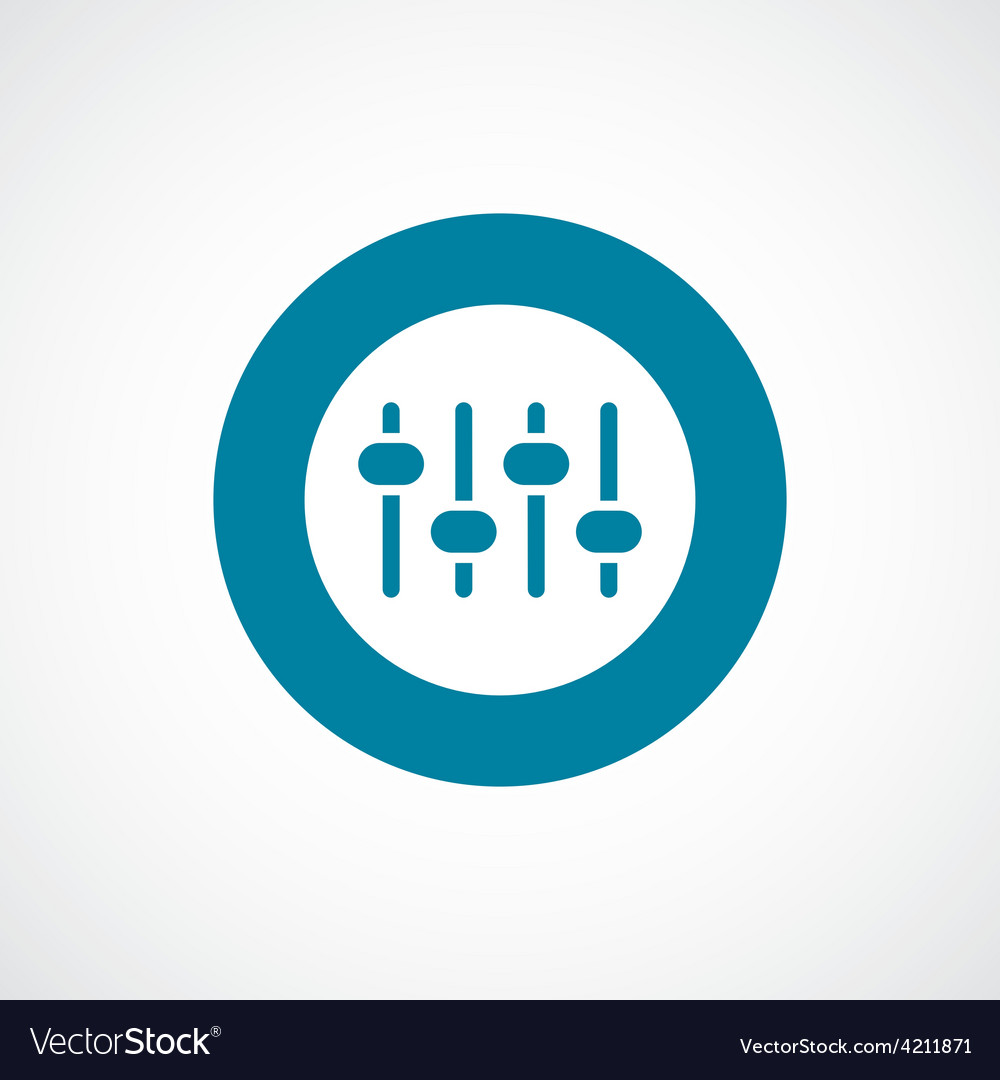 Sound mixer icon bold blue circle border vector   Price: 1 Credit (USD $1)
