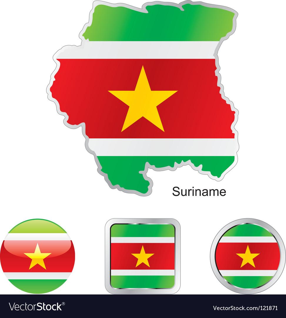 Suriname vector | Price: 1 Credit (USD $1)