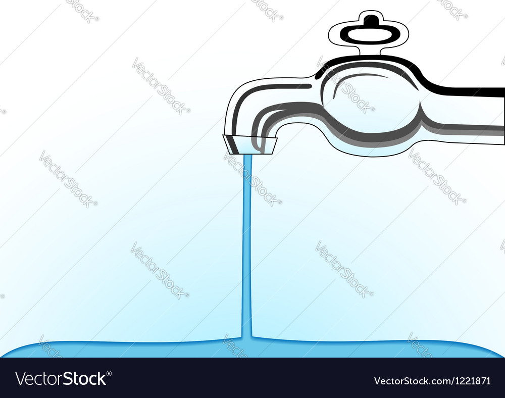Water tap vector | Price: 1 Credit (USD $1)