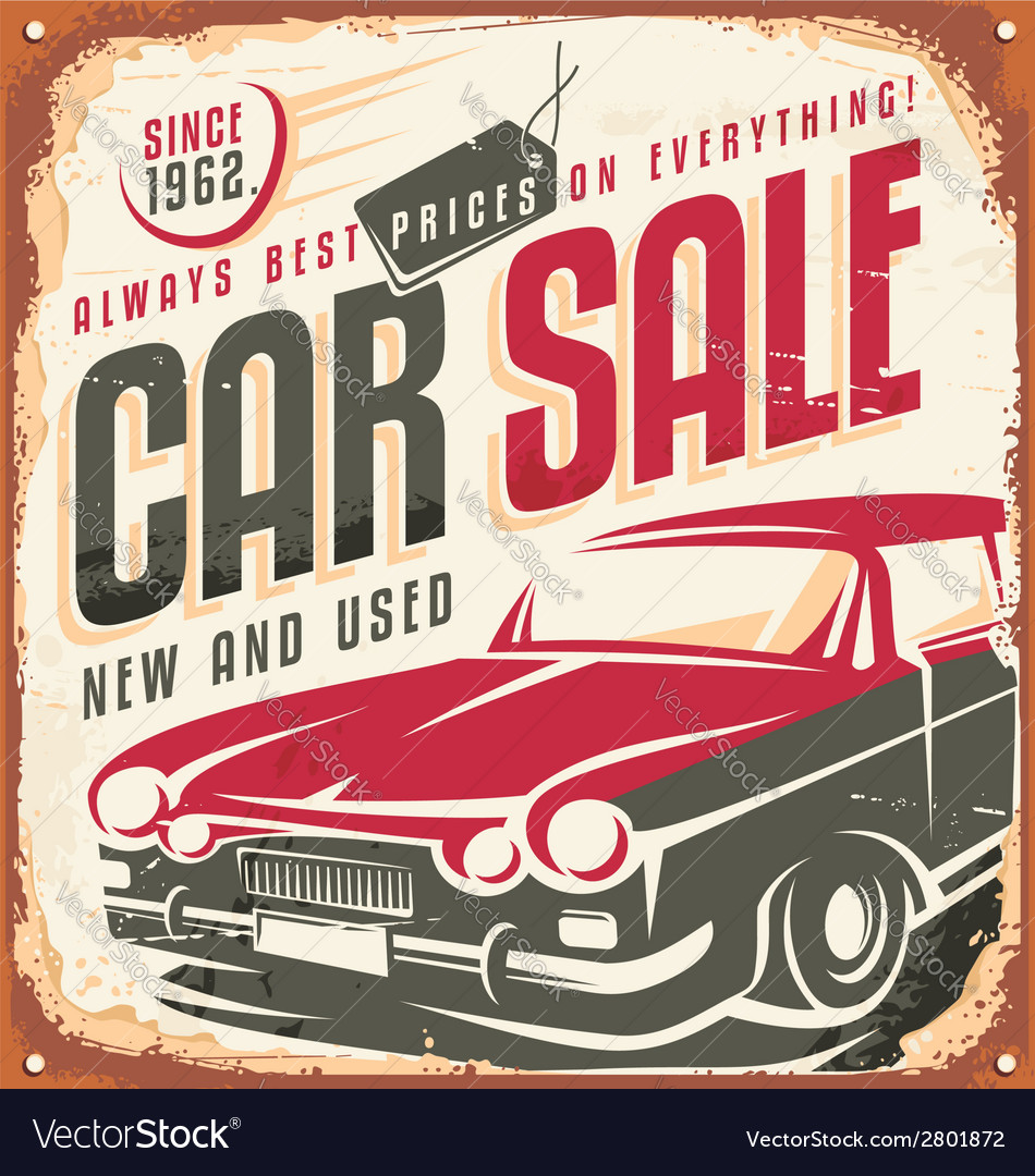Car sale vector | Price: 1 Credit (USD $1)