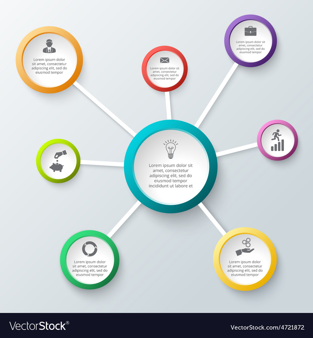 Circle element for infographic vector | Price: 1 Credit (USD $1)