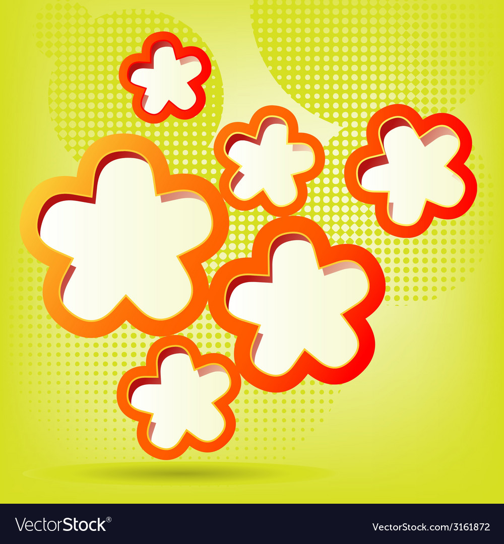 Floral background in green vector | Price: 1 Credit (USD $1)