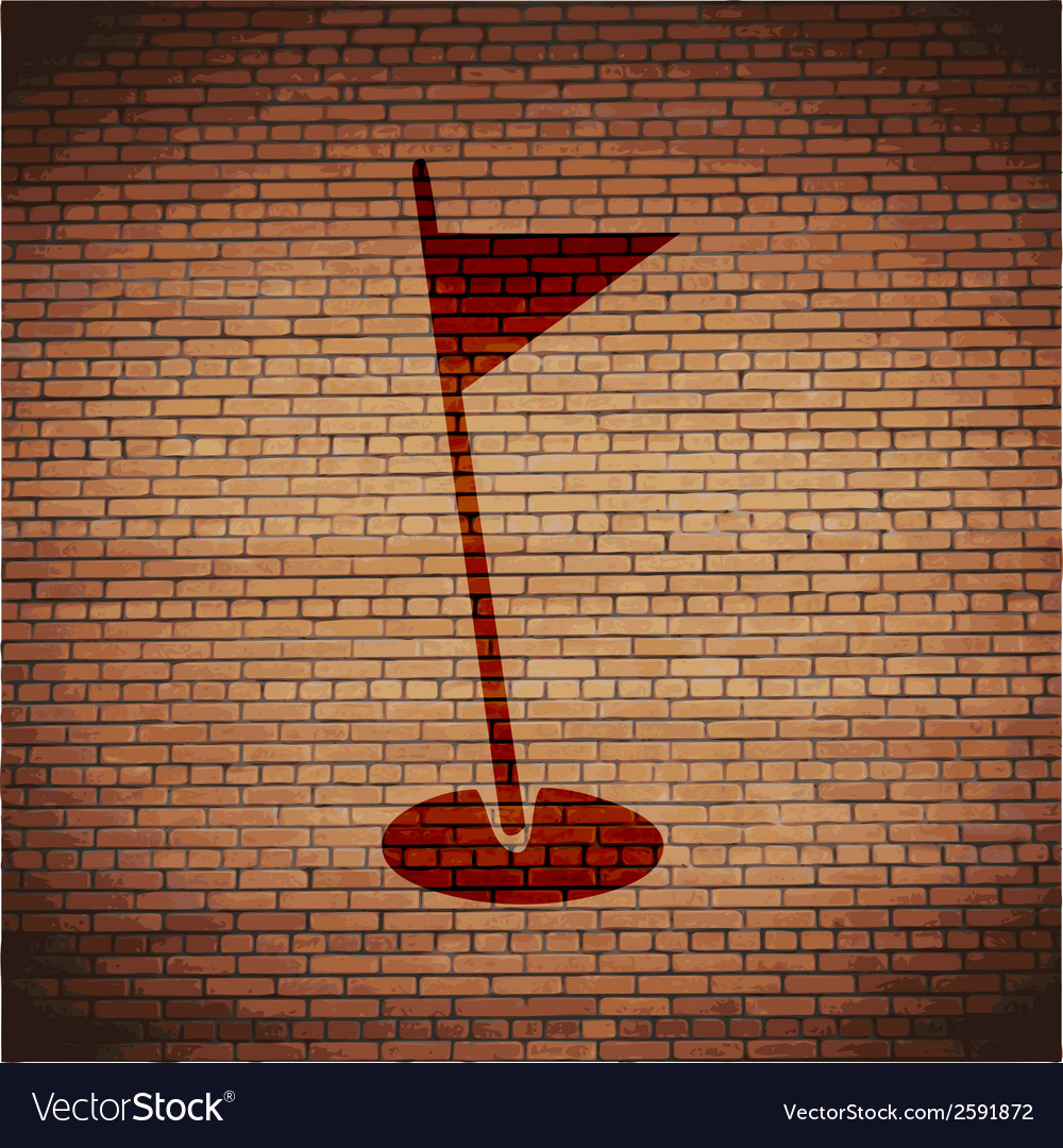 Golf flag flat modern web button and space for vector | Price: 1 Credit (USD $1)