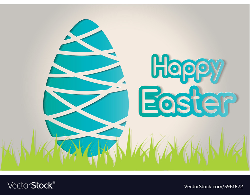 Happy easter egg vector | Price: 1 Credit (USD $1)