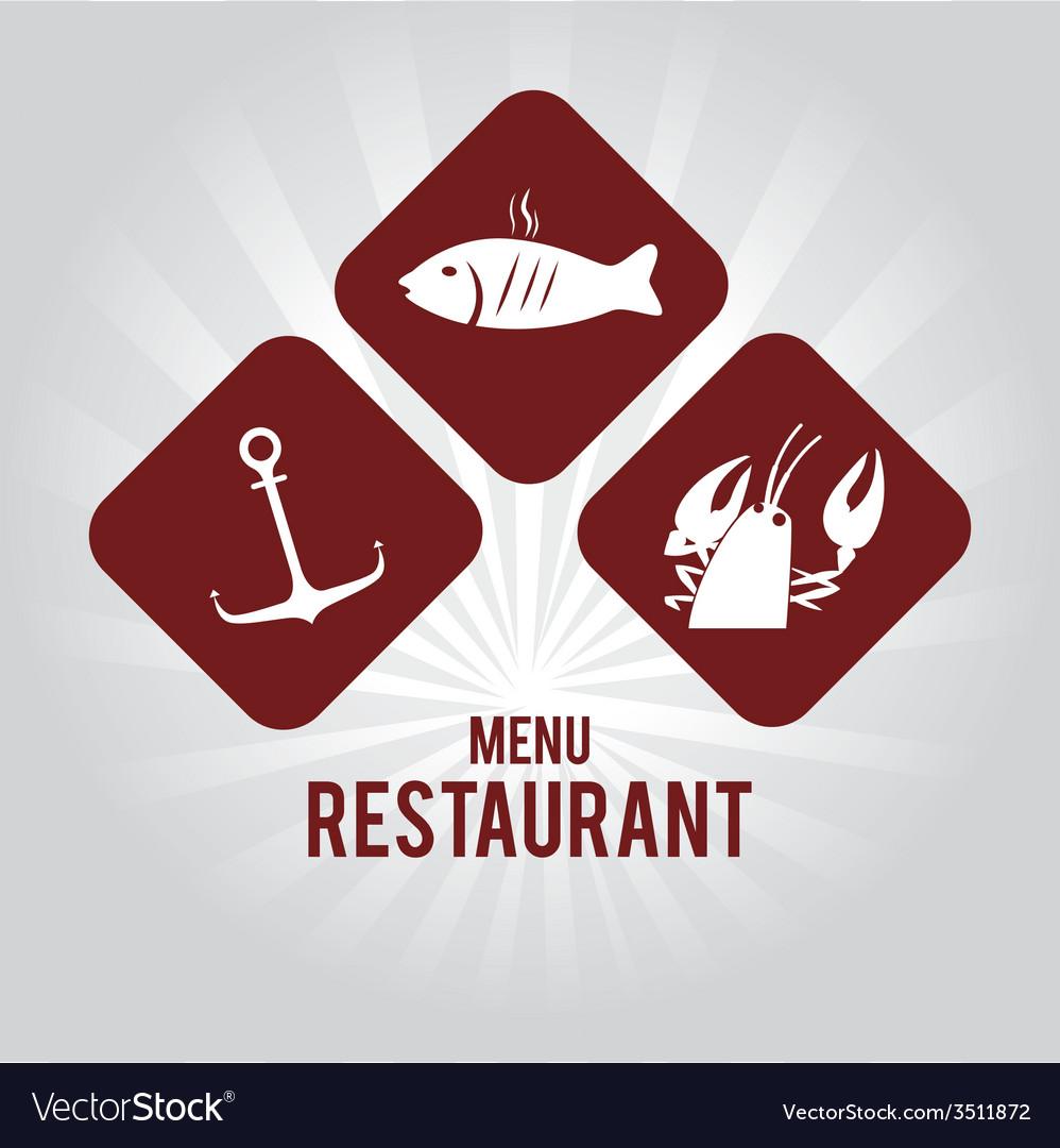 Seafood design vector | Price: 1 Credit (USD $1)