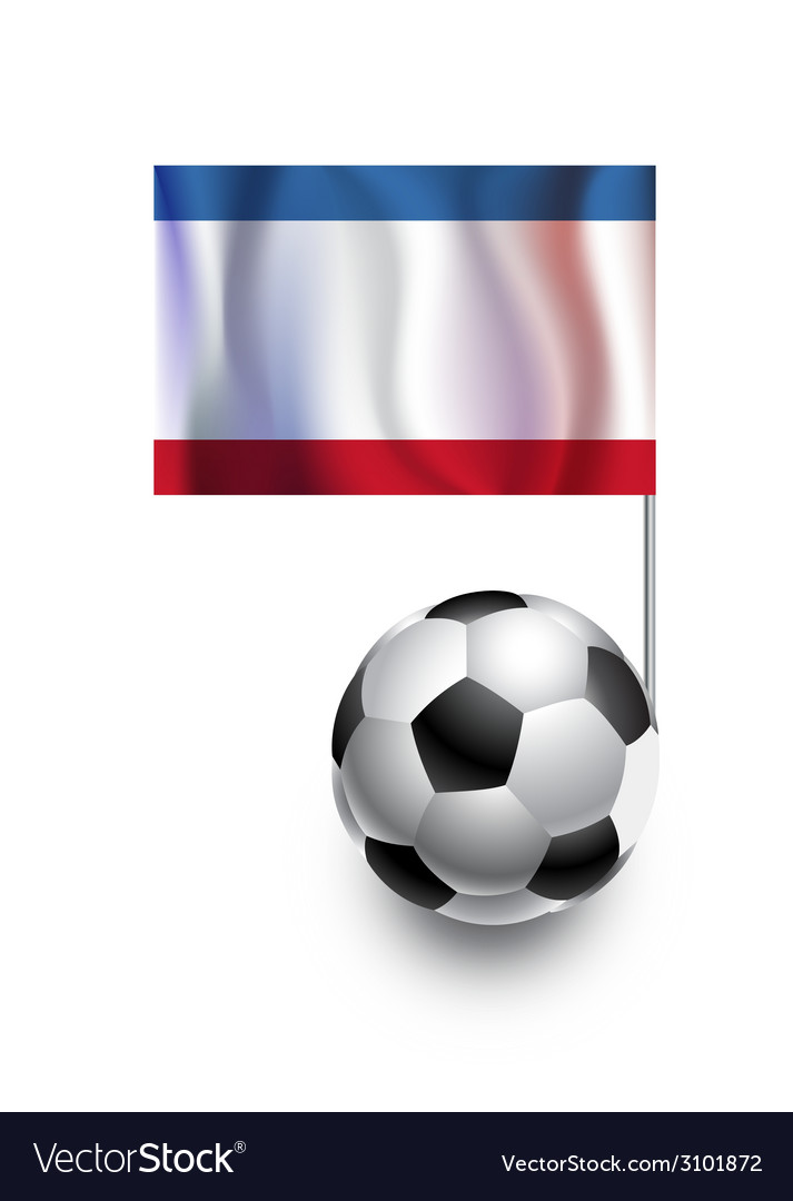 Soccer balls or footballs with flag of crimea vector | Price: 1 Credit (USD $1)