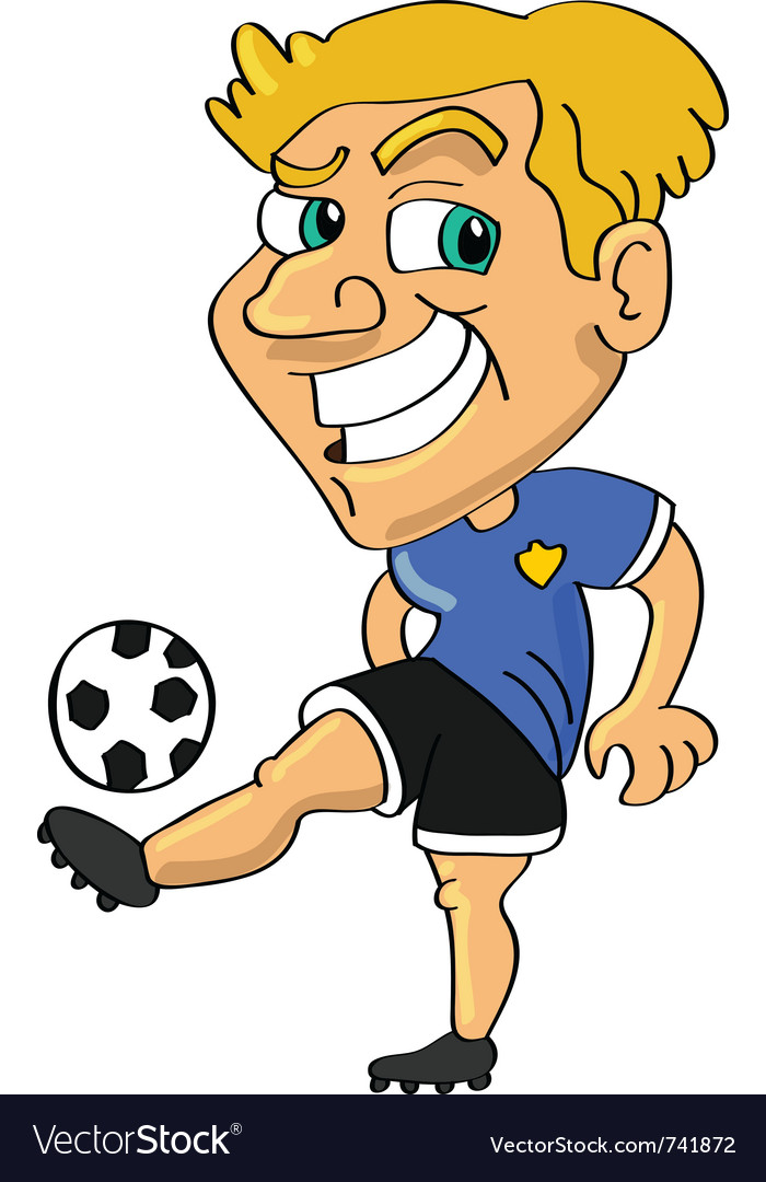 Soccer football player vector | Price: 3 Credit (USD $3)