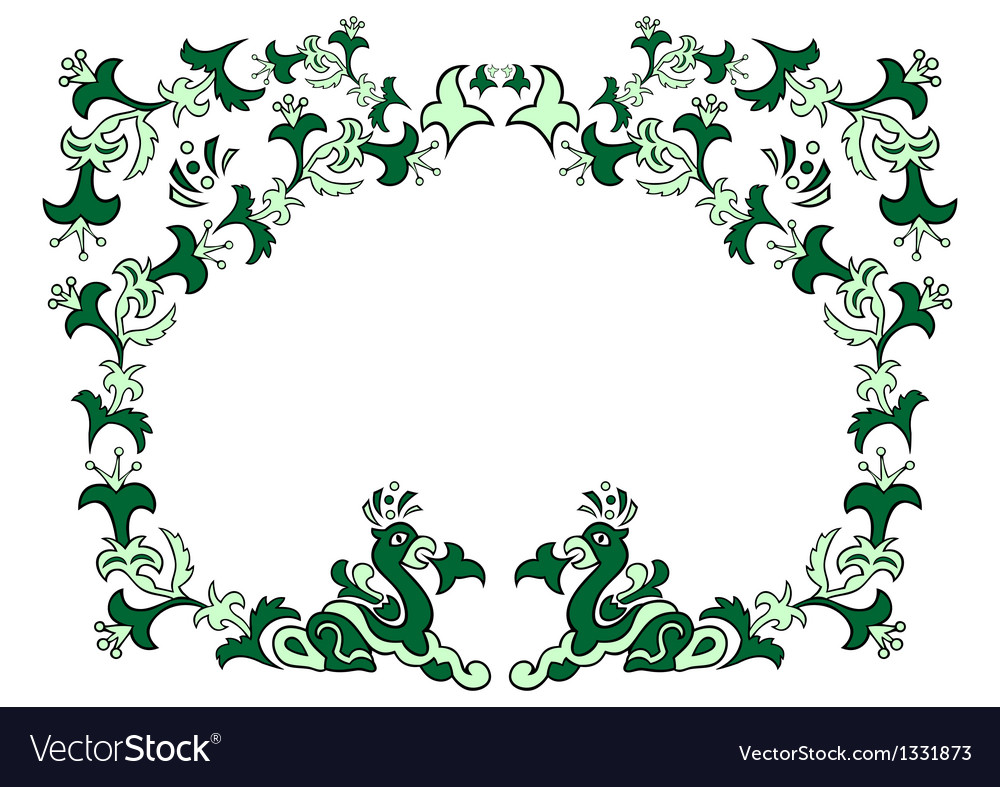 Abstract floral ornament vector | Price: 1 Credit (USD $1)