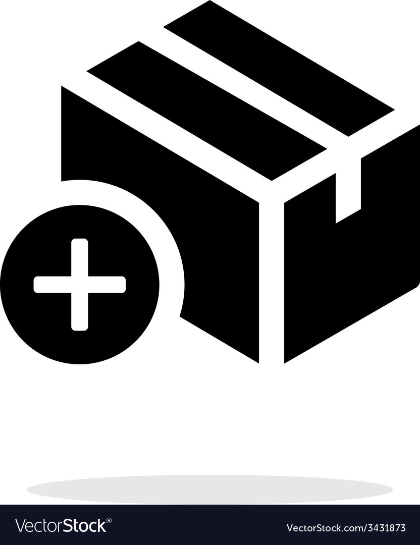 Add box simple icon on white background vector | Price: 1 Credit (USD $1)
