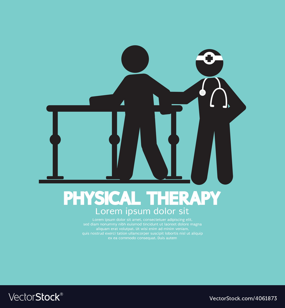 Black symbol physical therapy vector | Price: 1 Credit (USD $1)