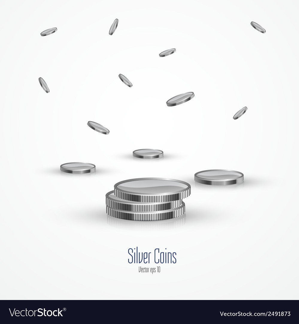 Coins isolated on a white background 2 vector | Price: 1 Credit (USD $1)