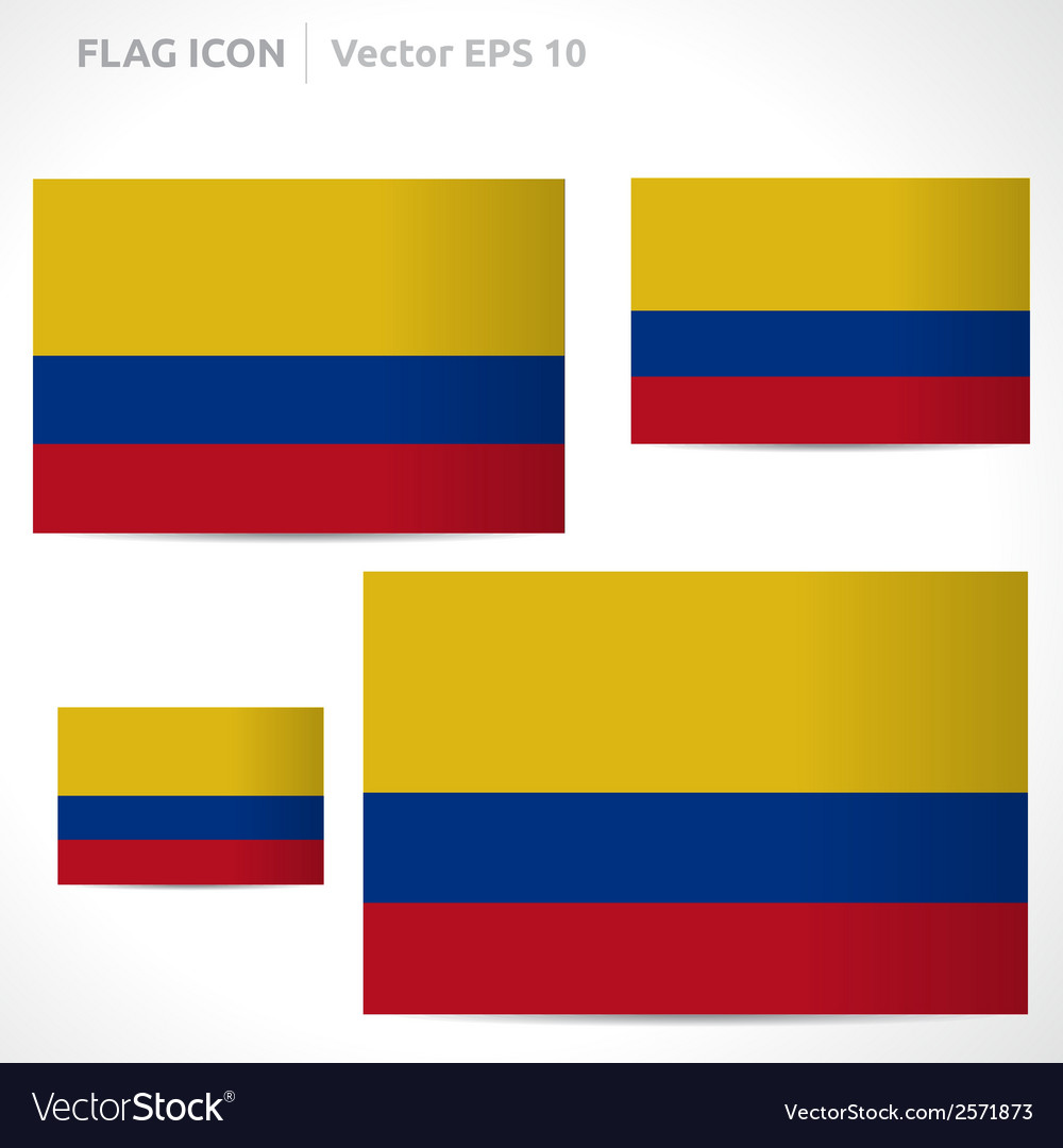 Colombia flag template vector | Price: 1 Credit (USD $1)