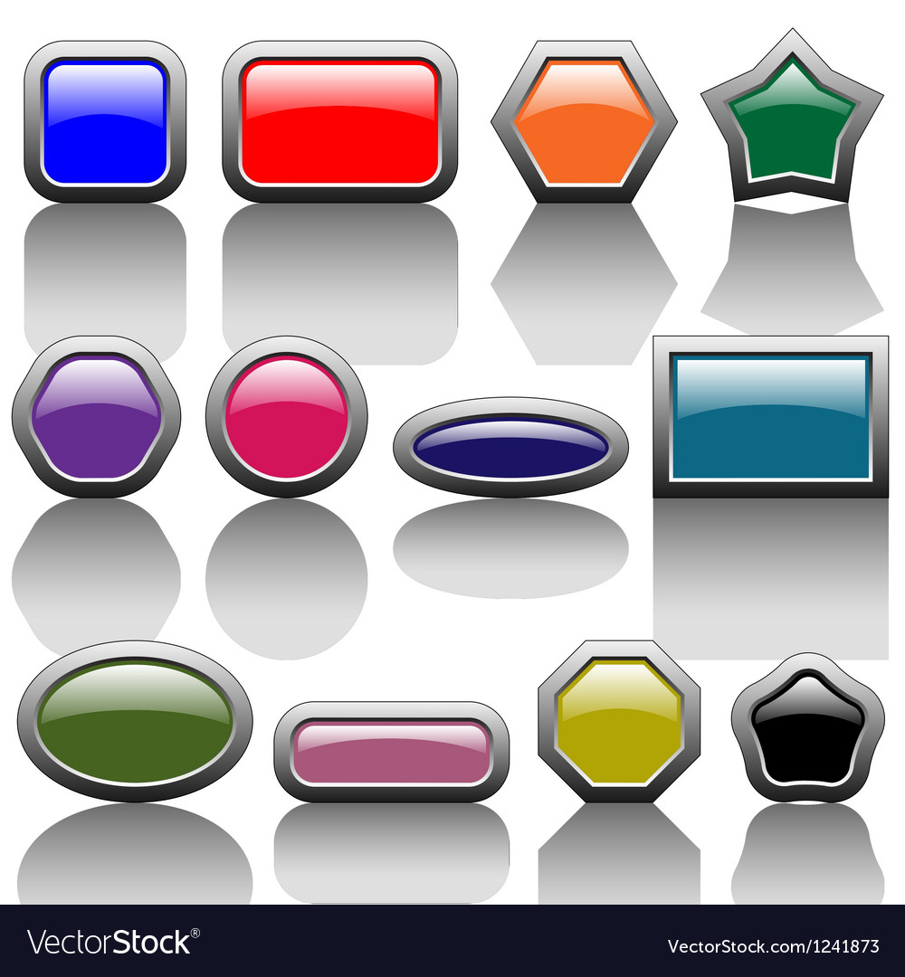 Colorful buttons vector | Price: 1 Credit (USD $1)