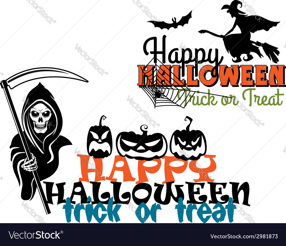 Eeerie happy halloween posters vector | Price: 1 Credit (USD $1)