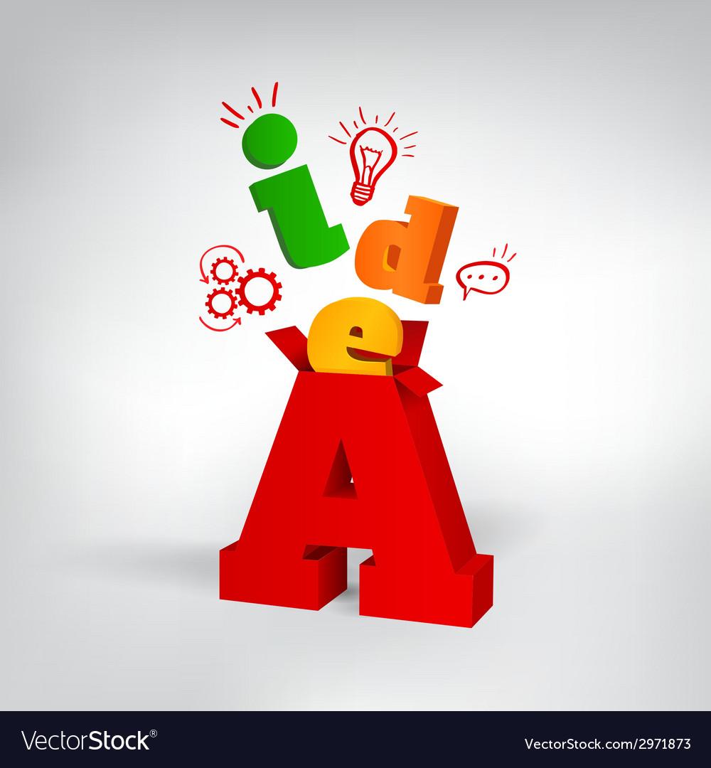 Idea 3d letters vector | Price: 1 Credit (USD $1)
