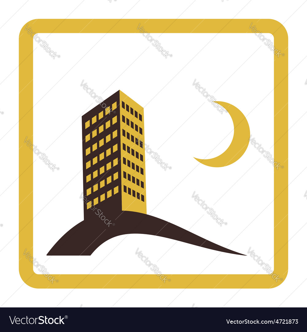 Night city icon design vector | Price: 1 Credit (USD $1)