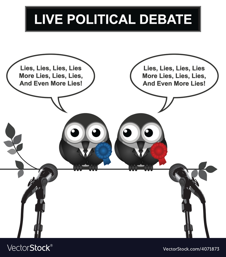 Political debate vector | Price: 1 Credit (USD $1)