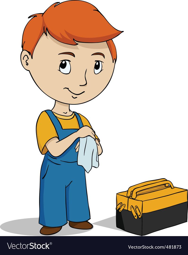 Repairman vector | Price: 1 Credit (USD $1)