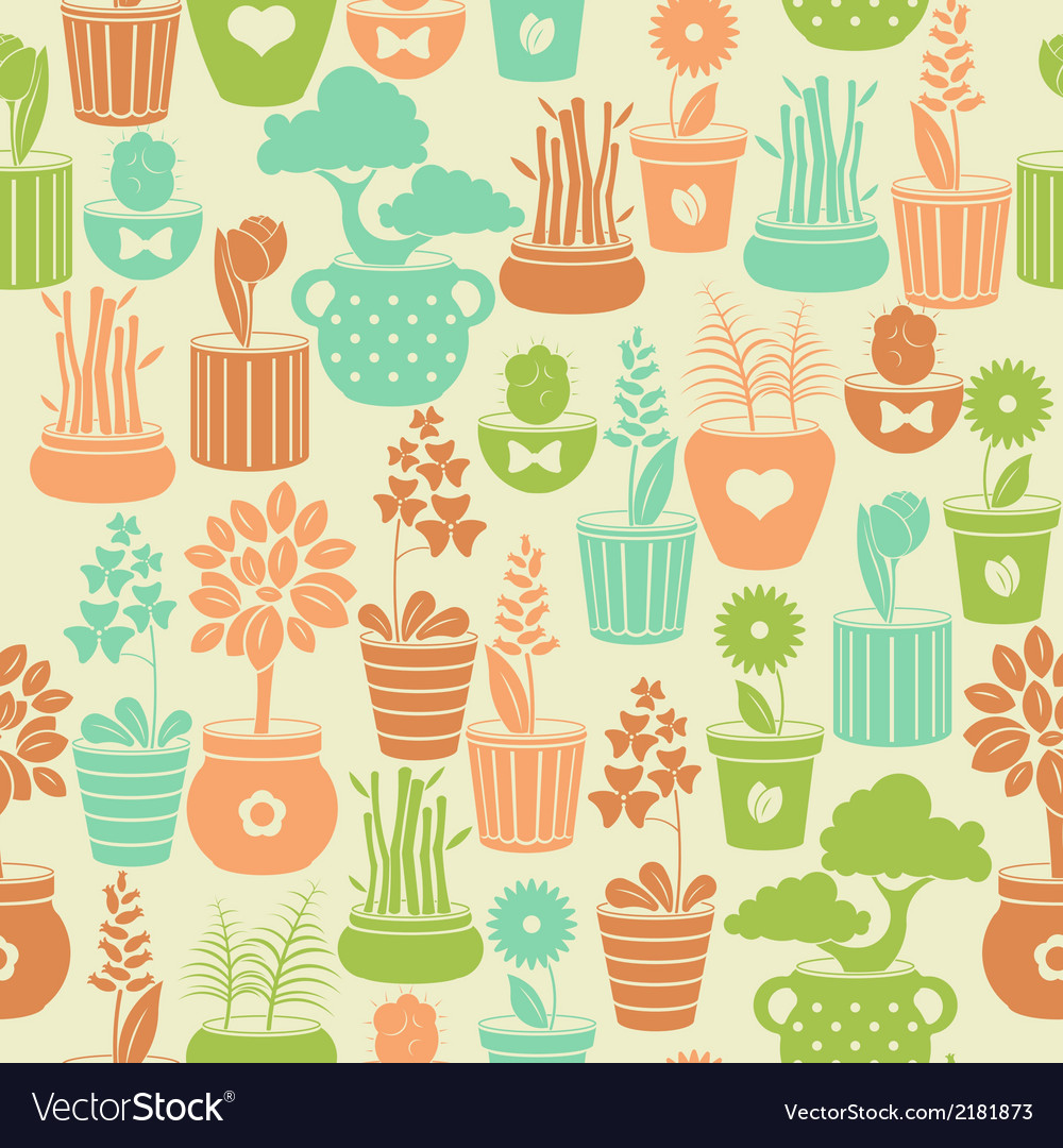 Seamless vintage pattern with flowers vector | Price: 1 Credit (USD $1)