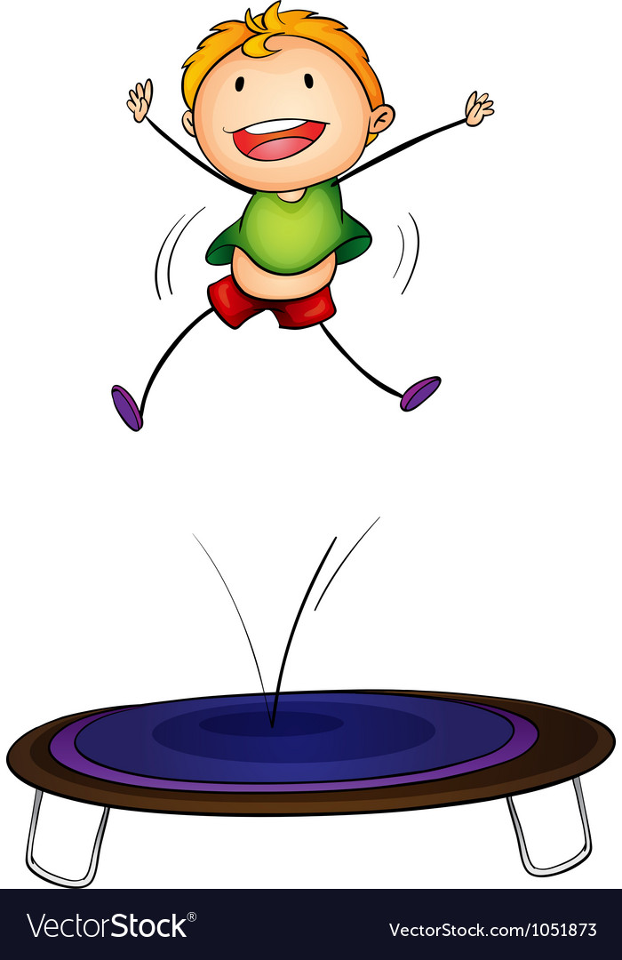 Trampoline kid vector | Price: 1 Credit (USD $1)