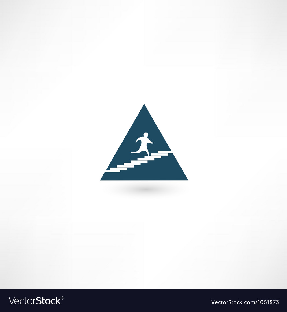 Up the pyramid icon vector | Price: 1 Credit (USD $1)