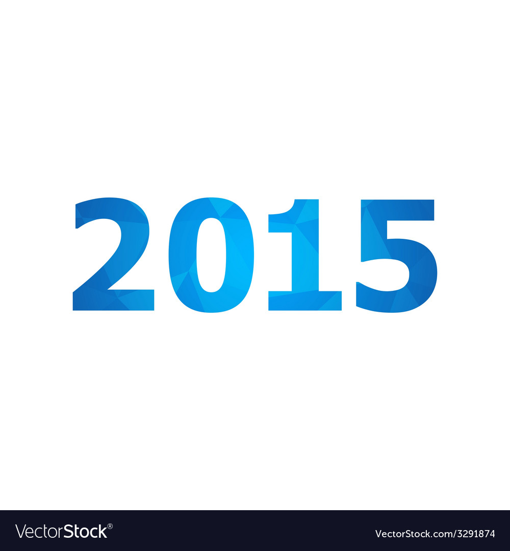 2015 with abstract triangle background vector | Price: 1 Credit (USD $1)
