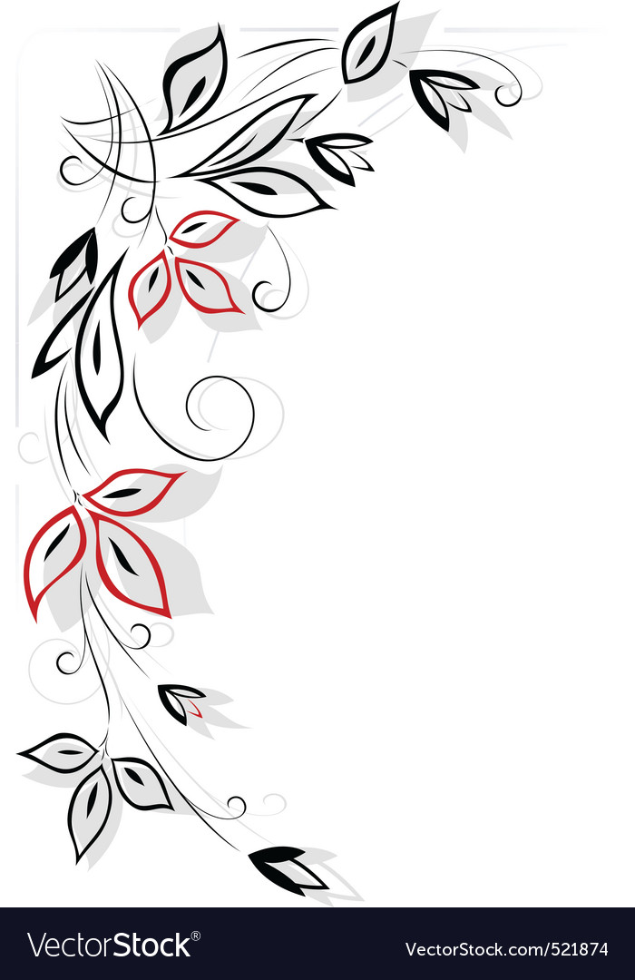 Black and red floral pattern vector | Price: 1 Credit (USD $1)