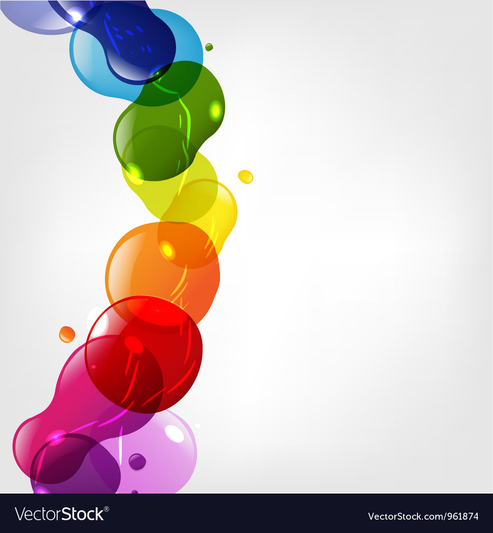 Color splotch border vector | Price: 1 Credit (USD $1)