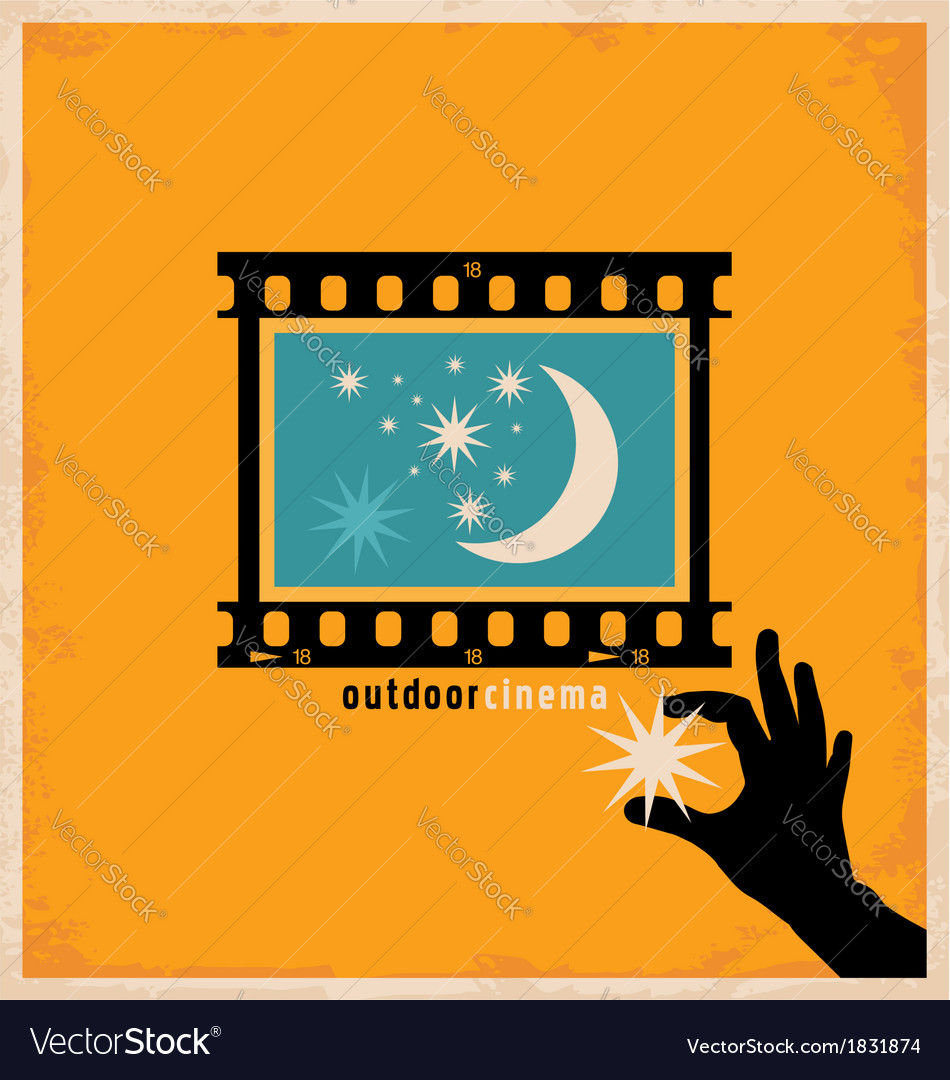 Creative design concept for outdoor cinema vector | Price: 1 Credit (USD $1)