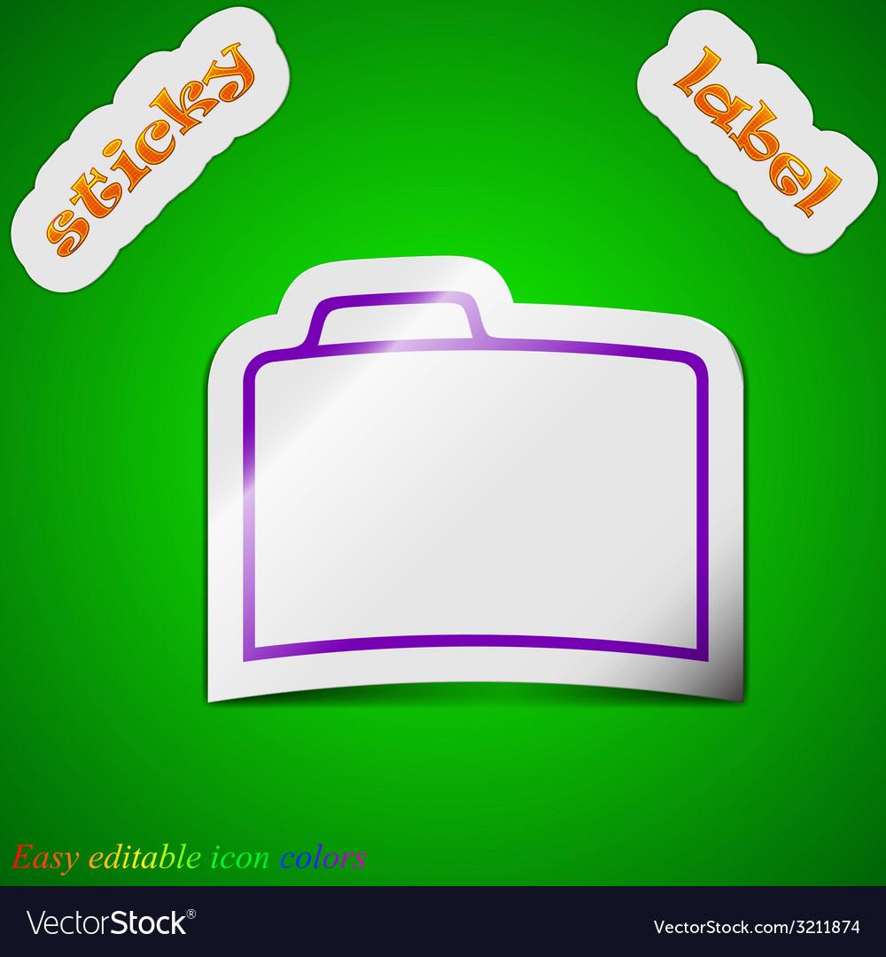 Document folder icon sign symbol chic colored vector | Price: 1 Credit (USD $1)