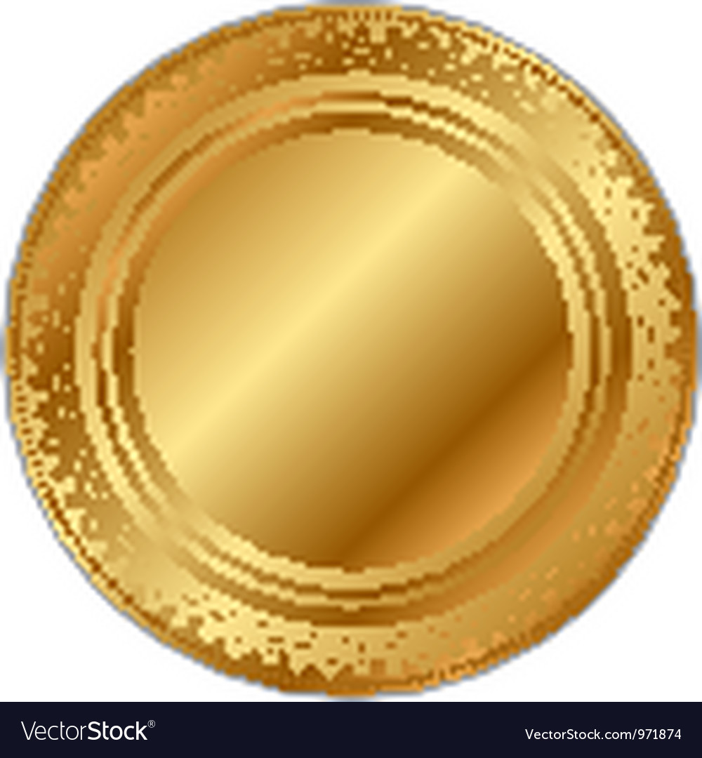 Gold tray vector | Price: 1 Credit (USD $1)