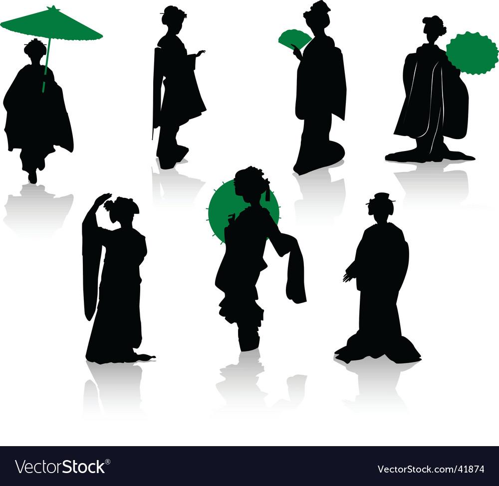 Japan dance vector | Price: 1 Credit (USD $1)