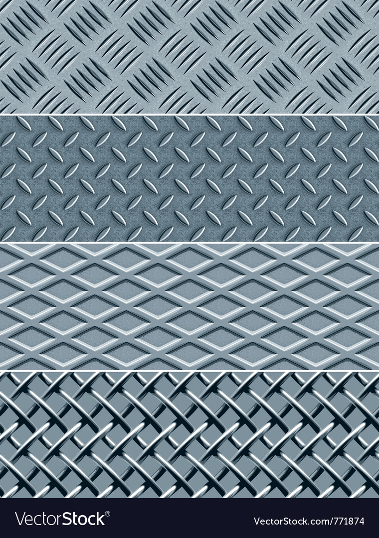 Metal texture seamless patterns vector | Price: 3 Credit (USD $3)