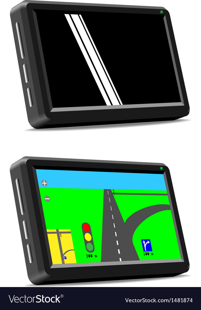 Modern auto gps navigation system vector | Price: 1 Credit (USD $1)