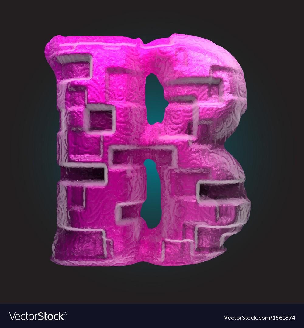Pink plastic figure b vector | Price: 1 Credit (USD $1)