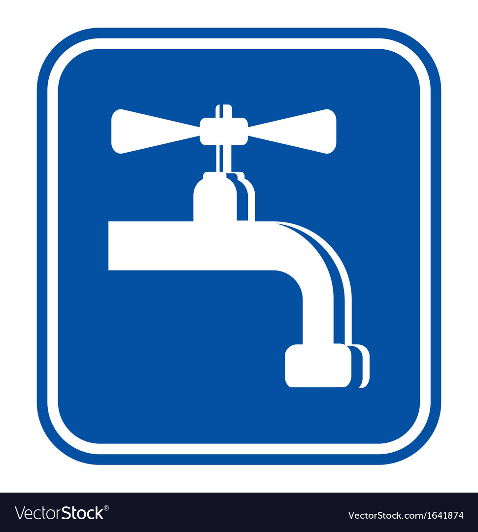 Water - plumber sign vector | Price: 1 Credit (USD $1)